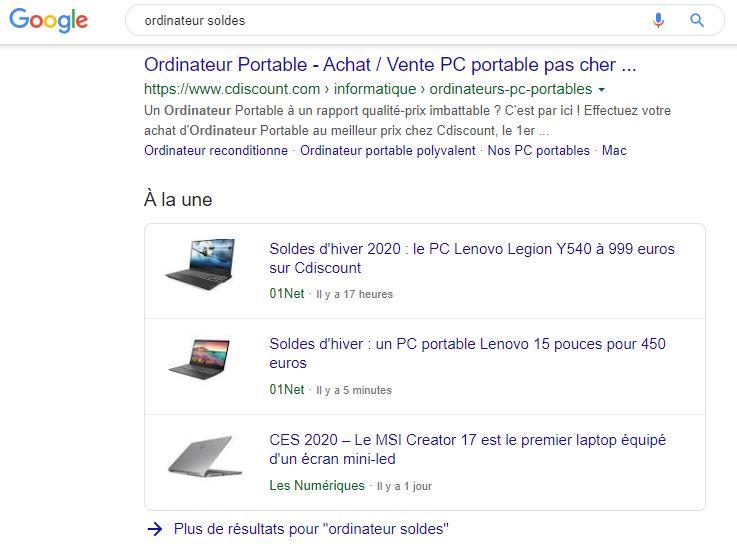 cluster google actualités